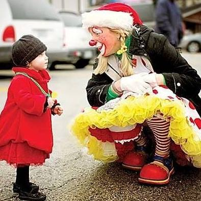 Clowning with a kid